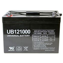 Universal Power Group 12V 100Ah Solar Wind AGM SLA DEEP Cycle VRLA Battery 12V...