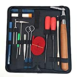 Piano Tuning Kit,YZNlife Professional 16 pcs Piano Tuner Kit Tools Including Tune Hammer Lever Felt, Mutes, Fork