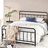 ZINUS Florence Metal Platform Bed Frame / Mattress Foundation / No Box Spring Needed / Easy Assembly, Black, King