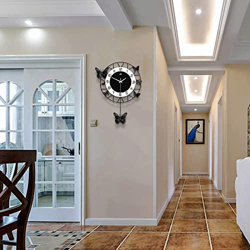 FANTIA Large Wall Clock for Living Room Decor Modern Big Pendulum...
