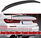 VTDOUQ Alerón Trasero para BMW 3 Series G20 320I 330I 335I 340I 2019 2020 ala De Tapa De Maletero, Labio De Extensión De Techo Modificado De Fibra De Carbono Universal