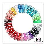 Lot de 24vernis à ongles avec plus de 22 couleurs vives différentes -...