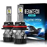 BEAMTECH 9007 LED Headlight Bulb,30mm Heatsink Base CSP Chips 10000 Lumens Hi/Lo 6500K Xenon White Extremely Super Bright Conversion Kit of 2