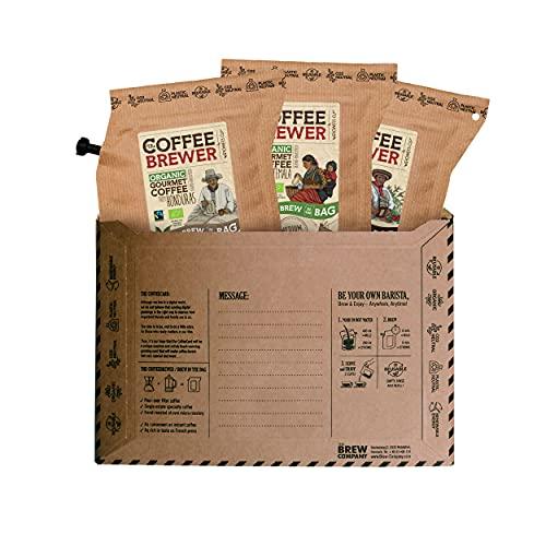 Premium-Kaffee für unterwegs | Coffeebrewer 3er-Pack | Gemahlener, Single Estate, handgeröstet...