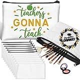 Sublimation Blanks Teacher Gifts Makeup Bag, 12 Pcs Sublimation Blanks...