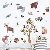 Sticker per il muro della cameretta con animali