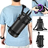 Neewer Deluxe Padded Camera Lens Pouch Case with Sling Belt Strap, 5.9 x 11.8 inches/15 x 30 Centimeters for Tamron SP 70-200mm, Sigma 70-200mm and Other Telephoto Lens (Black/Purple)