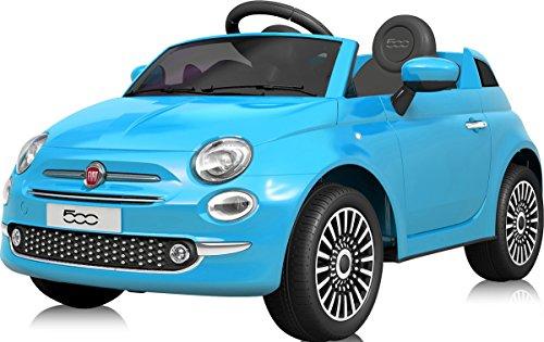 電動乗用カー フィアット500 FIAT500 電動乗用玩具 乗用玩具 [701] (ブルー)
