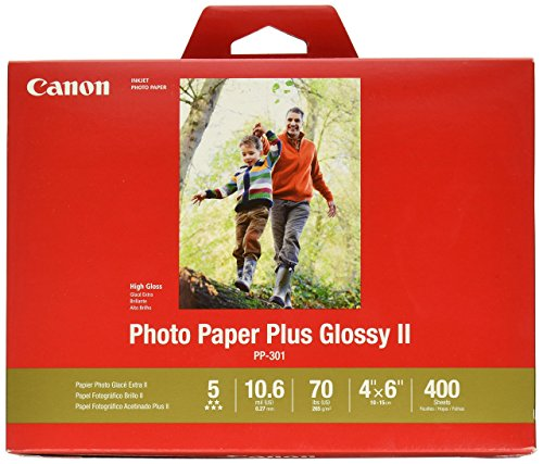 CanonInk Photo Paper Plus Glossy II 4' x 6' 400 Sheets (1432C007)