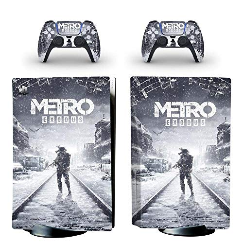 Metro Exodus PS5 Standard Disc Edition Skin Sticker Aufkleber Cover für Playstation 5 Konsole Controller PS5 Skin Sticker Vinyl kyspf0492