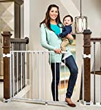 Regalo 2-in-1 Stairway and Hallway Wall Mounted Baby Gate, Bonus...