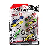 Remeehi Party Favors Educational Finger Toy Mini Finger Sports Skateboards/Bikes/Swing Board with Endoluminal Metallic Stents(send components and parts)