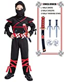 Halloween Costumes Boys Ninja Costume Kids Toddler Ninjago 3T 4 4T 5 5T 4-6 6-8 8-10 7-8 10-12 Black