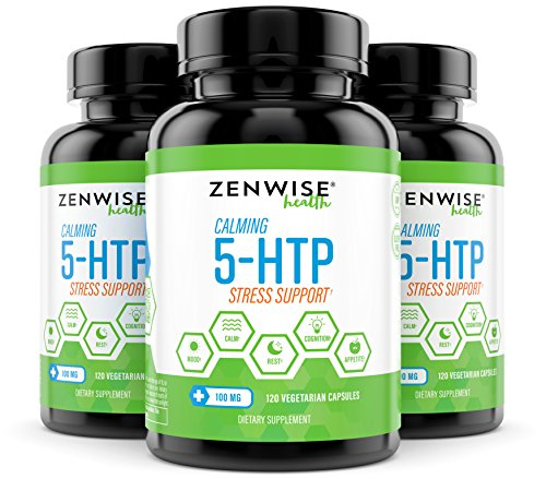5-HTP - 100 MG With Vitamin B6 - Stress Relief Support & Mood Control - Natural Appetite Suppressant for Weight Loss - Sleep Aid Supplement & Brain Booster - 120 Vegetarian Capsules 4