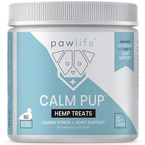 pawlife Calming Chews for Dogs - Organic Hemp Oil...