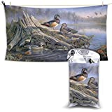 XCNGG Toallas de baño de secado rápido Toallas de baño para el hogar Toallas Quick Dry Bath Towel, Absorbent Soft Beach Towels, Birds Autumn Art for Camping, Backpacking, Gym, Travelling, Swimming,Yog