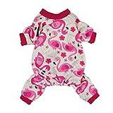 Fitwarm Flamingo Pet Clothes for Dog Pajamas PJS Shirts Jumpsuit Pink Large