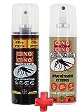 Cinq sur Cinq - Kit Haute protection contre les Moustiques Spray Tropic 75 ml + Spray Vètement 100...