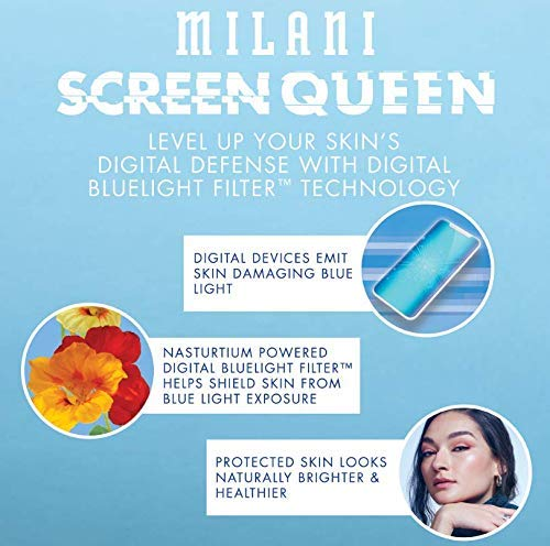 Product Image 7: Milani Screen Queen Liquid Foundation Makeup - Cruelty Free Foundation With Digital Bluelight Filter Technology (Warm Mocha)