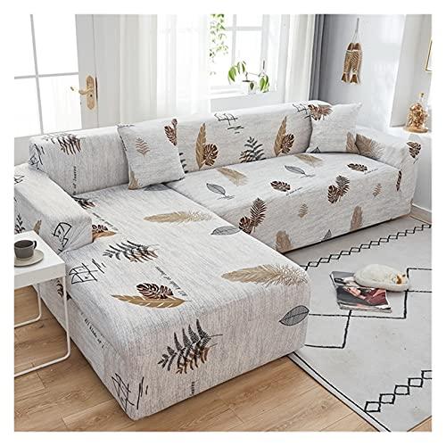 Sofa Covers Copridivano Elasticizzato 1/2/3/4 Posti, Copridivano con Penisola Destra/Sinistra, (Fodera per Divano Forma di L ne servono Due) (Color : C, Size : 4 posti (235-300cm))