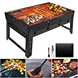 Barbecue Portable Golwof Barbecue Pliable Barbecue à Charbon Camping en...