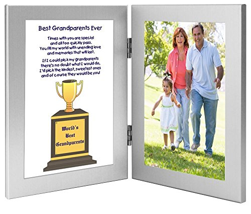 Poetry Gifts World's Best Grandparents Frame for Grandma and...