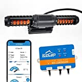 IceCap Powerhead 2K Gyre Pond Pump, Cross Flow Submersible Water Pump for Aquariums, WiFi controllable Water Fountain Pump for Aquarium Pump Flows 739-2000 Gallons Per Hour, Controls With Free App