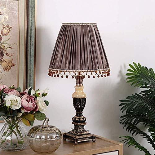 Hurffue Lampada da tavolo moderna Retro semplice Jade Coffee Desk Lamp Decoration divano Atmosfera...