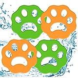 PiAEK Tierhaarentferner für Wäsche 4er Pack Wäsche Haarfänger Waschmaschine Flusenentferner Wiederverwendbarer Tierfellwäscher Fänger Haarentferner für Wäsche