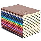 GRT A5 Cahier d'écriture coloré en cuir Journal Bloc-notes quotidien...