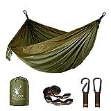 Fieleer Hamac Ultra-léger de Voyage Camping | avec Mousquetons de qualité & Sangles 2,5 cm de Large avec 6...