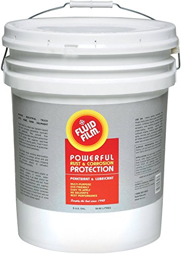 Fluid Film 5gal Pail NAS Rust Inhibitor Rust Prevention Anti Corrosion Anti Rust Coating Undercoating Underbody Rust Proofing Corrosion Protection for Truck Snow Blower Mower Car Semi Tractor Bus