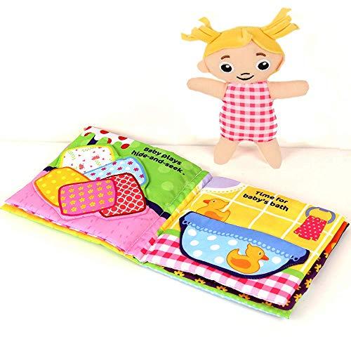 Libro bambino ultra morbido Touch and Feel libro Coloth, libro audio 3D per bambino / bambino,...