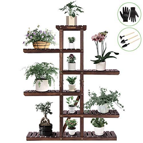 Vivosun Wood Plant Stand Indoor Outdoor Buy Online In Cyprus At Desertcart
