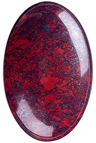 UFEEL Red Flower Jasper Palm Stone Crystal - Natural Chakra...