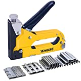 Upholstery Staple Gun Heavy Duty, YEAHOME 4-in-1 Stapler Gun with 4000 Staples, Manual Brad Nailer Power Adjustment Stapler Gun for Wood, Crafts, Carpentry, Decoration DIY, Fathers Day Gifts