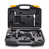 Torque Wrench Multiplier Lug Nut Labor-saving Wrench Remover Set (1/2' DR) with carrying case, torque multiplier Labor-saving Wrench Torque Socket Silver