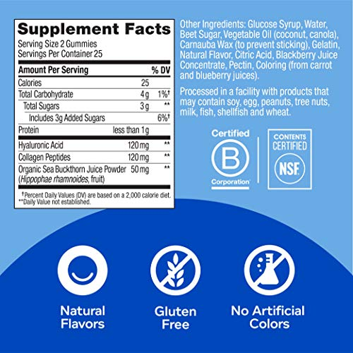 OLLY Glowing Skin Gummy, 25 Day Supply (50 Count), Plump Berry, Hyaluronic Acid, Collagen, Sea Buckthorn, Chewable Supplement (Packaging May Vary) 9