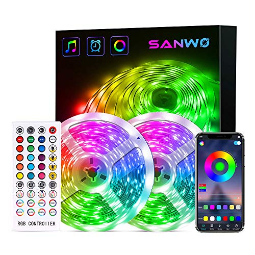 LED Strip Lights, 65.6 Feet RGB LED Light Strip App Control for...