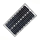 ALEKO SP30W24V 30 Watt 24 Volt Monocrystalline Solar Panel for Gate Opener Pool Garden Driveway