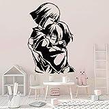 wZUN Anime Chihiro Pared calcomanía Personaje de Dibujos Animados Vinilo Pegatina guardería niños Dormitorio decoración Papel Tapiz 63X42cm
