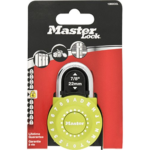 Masterlock 1590EURDCOL, Candado Combi Reset, Surtido: varios colores, 49 mm