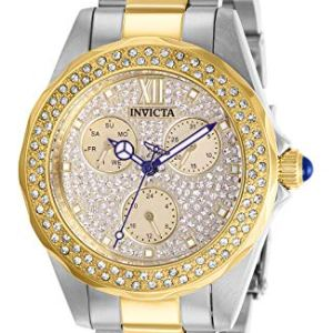 Invicta Women's Angel Quartz Watch with Stainless Steel Strap, Two Tone, 18 (Model: 28433)