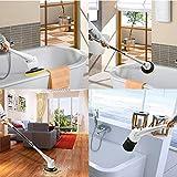 EVERTOP FD-EBC Brosse de nettoyage multi-fonction à poils longs pour salle...