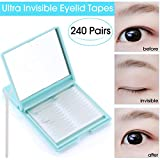480Pcs Ultra Invisible Fiber One Side Eyelid Tapes Stickers - Double Eyelid tapes - Instant Eyelid Lift Without Surgery, Perfect for hooded, droopy, uneven, or mono-eyelids (Medium)