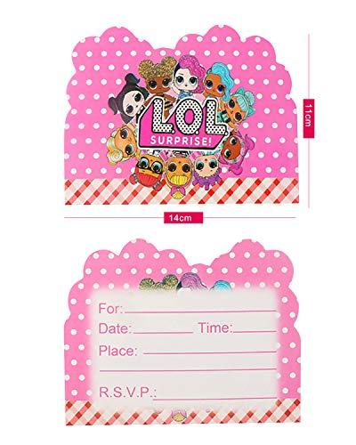 Image 1 - Qemsele Invitations, 30 Cartes + 30 Enveloppes pour fêtes d'anniversaire d'enfants Anglais Invitation à Une fête d'anniversaire pour Enfant garçons et Filles (4.3 * 5.5 Pouces (11 * 14cm), LOL)