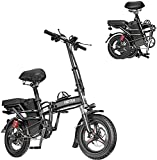 BRISEZZS Folding Electric Bicycle, 350W High-Speed 33km/h Motor, 48V Bettery Rechargeable Electric Urban Commuter Bike Suitable for Adults and Teenagers
