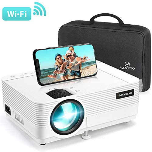 VANKYO Leisure 470 Mini Projector with Synchronize Smart Phone Screen, Full HD 1080P Supported and 250 Display, WiFi Portable Projector Compatible with TV Stick, PS4, HDMI, VGA, TF, AV, USB