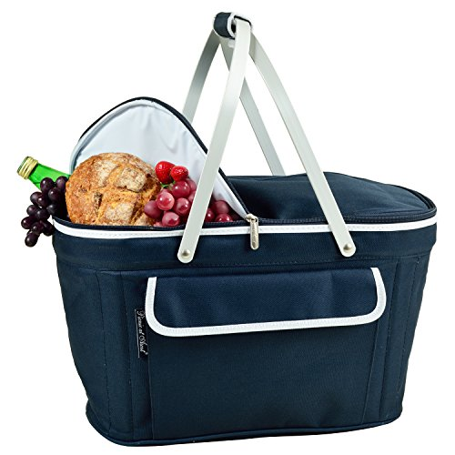 Picnic at Ascot Patented Insulated Folding Picnic Basket Cooler- Designed & Quality Approved in the USA