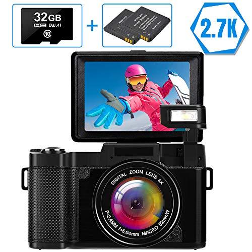 Appareil Photo numérique Appareil Photo Vlog 2.7K Full HD 30MP Appareil...